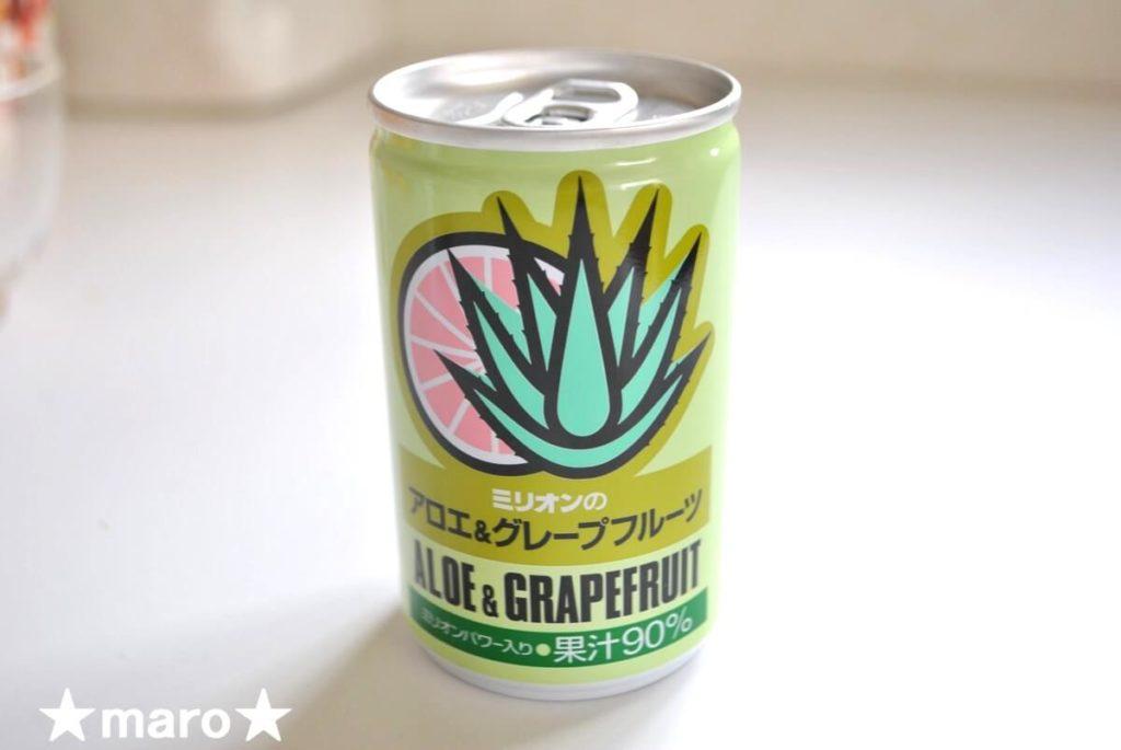 ミリオンのアロエ&グレープフルーツの缶